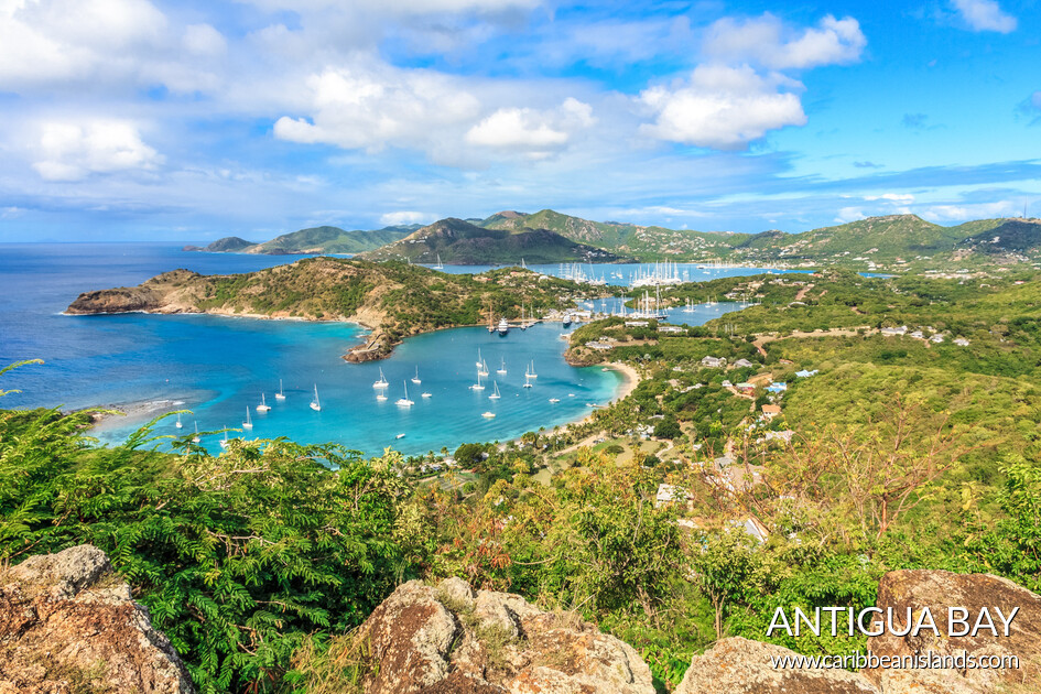 Antigua Bay view from Shirely Heights