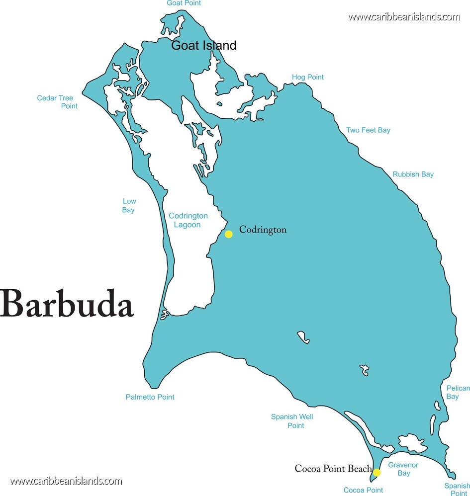 Approved Areas | The Citizenship by Investment Program |Terrain Map Antigua And Barbuda