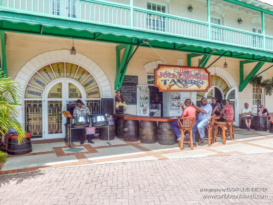 Bar on dockside, Bridgetown