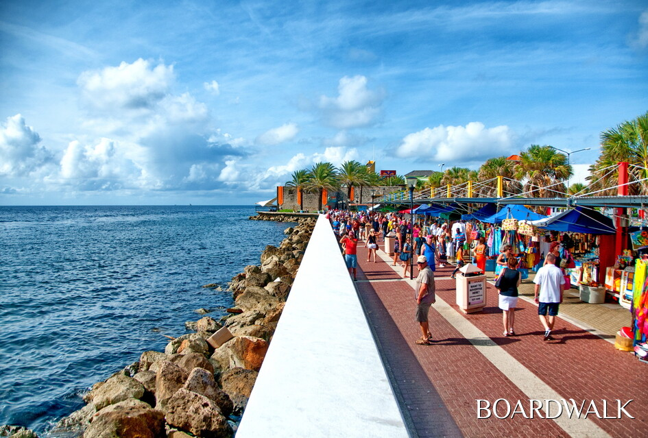 boardwalk in Willemstad, Curaçao