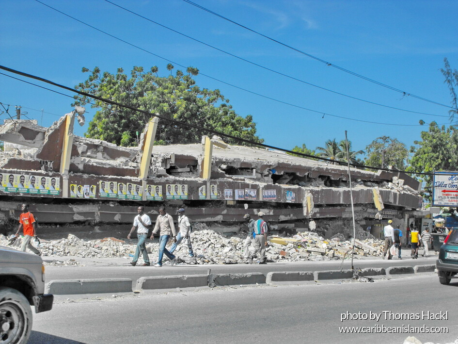 collapsed building Port-au-Prince