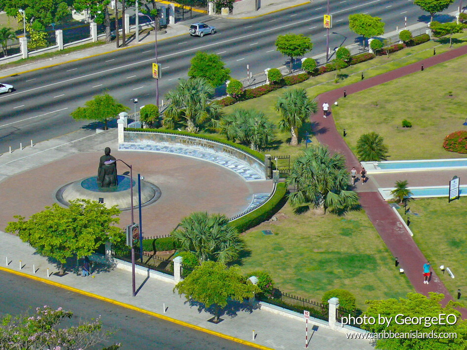 Emancipation park, in Kingston