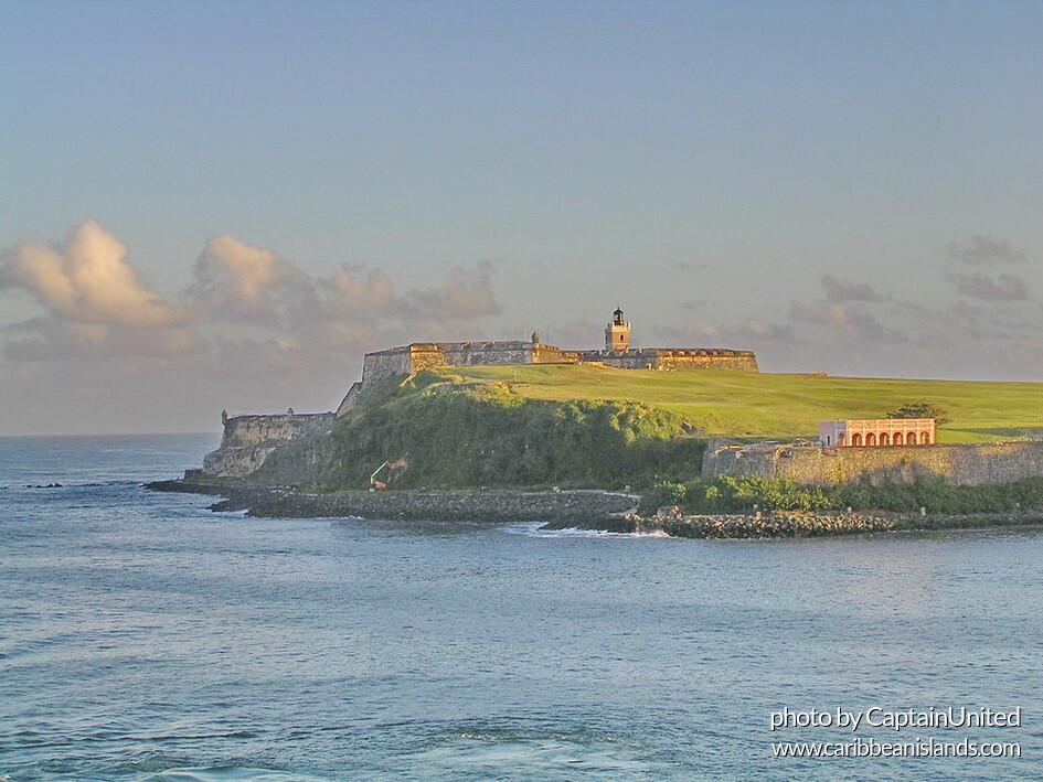 View from the sea of Castillo San Felipe del Morro, San Juan