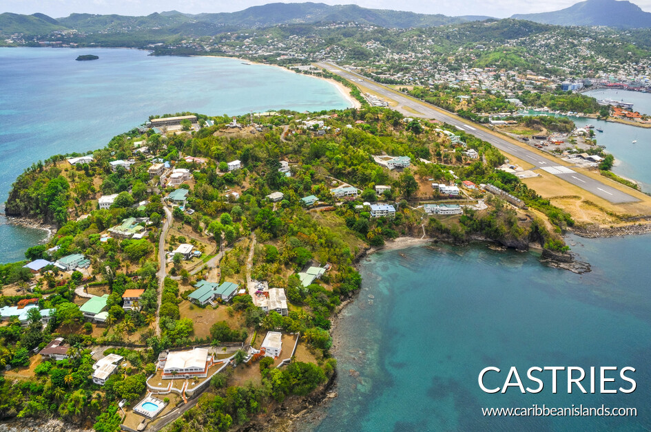 Castries from air