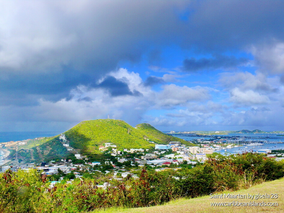 Panoramic view of Saint Maarten