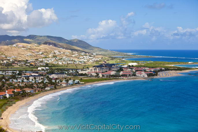 view of Basseterre and St Kitts