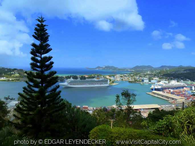 The Port of Castries St Lucia