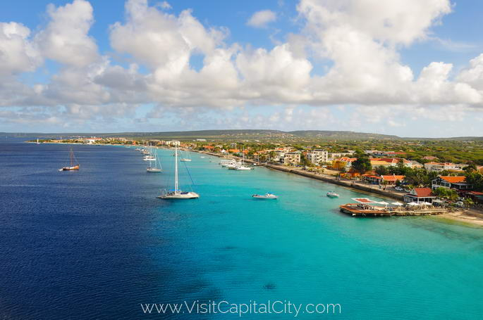 Kralendijk, capital city of Bonaire
