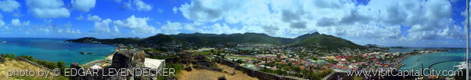 Panoramic from Fort St. Maarten