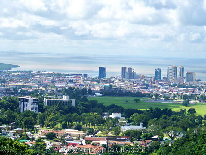 Port of Spain from Queen's Park Savannah