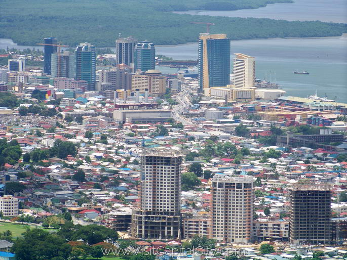 Port of spain city panorama
