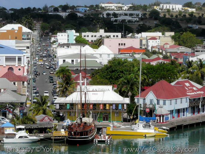 Antigua view from a cruiseship
