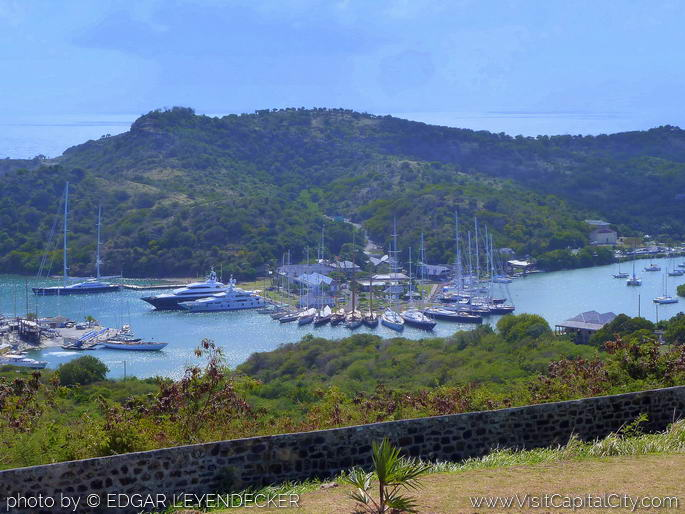 Nelson's Dockyard view from Fort Hill Dow, Antigua