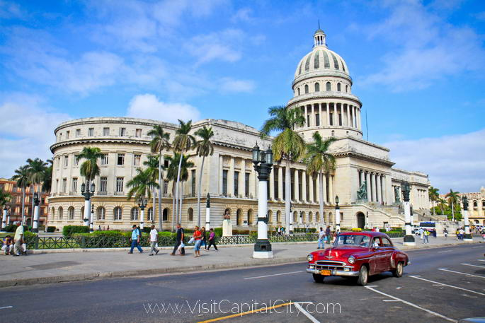 Modeled after the Capitol building in Washington, D.C., Havana's version Capitol is just as rich in iconography