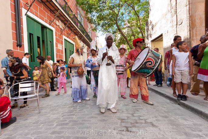 La Habana Vieja, or Old Havana, where Caribbean and African rhythms are the soundtrack