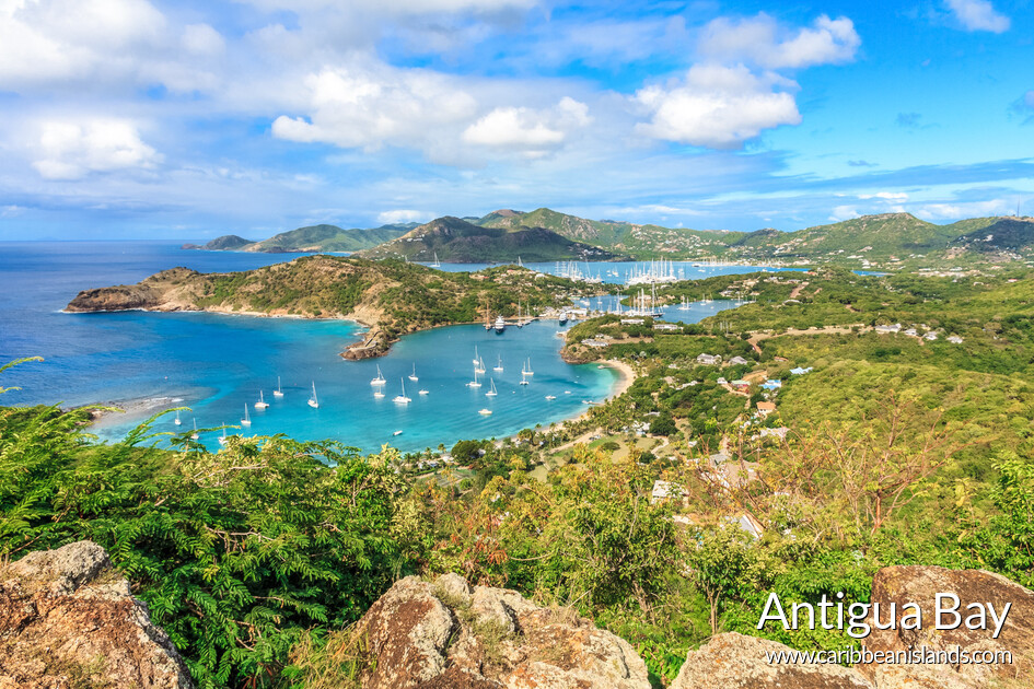 Antigua Bay utsikt fra Shirely Heights