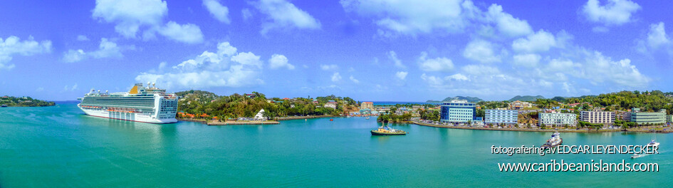 Panoramic Harbor of Castries
